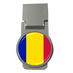 Civil Flag Of Andorra Money Clips (round)