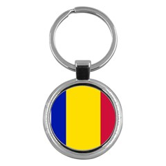 Civil Flag Of Andorra Key Chains (round)
