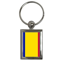 Civil Flag Of Andorra Key Chains (rectangle)