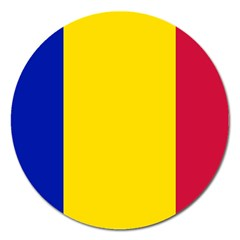 Civil Flag Of Andorra Magnet 5  (round)