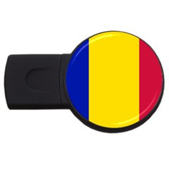 Civil Flag Of Andorra Usb Flash Drive Round (2 Gb)