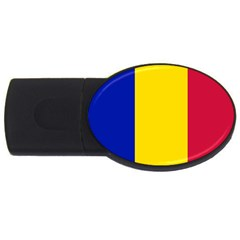 Civil Flag Of Andorra Usb Flash Drive Oval (2 Gb)
