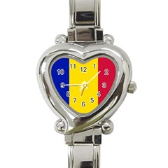 Civil Flag Of Andorra Heart Italian Charm Watch