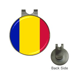 Civil Flag Of Andorra Hat Clips With Golf Markers