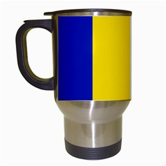 Civil Flag Of Andorra Travel Mugs (white)