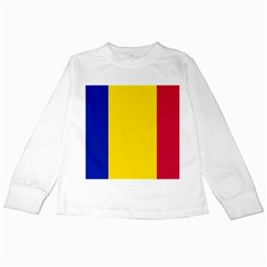 Civil Flag Of Andorra Kids Long Sleeve T Shirts