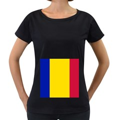 Civil Flag Of Andorra Women s Loose Fit T Shirt (black)