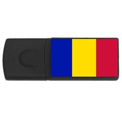 Civil Flag Of Andorra Rectangular Usb Flash Drive