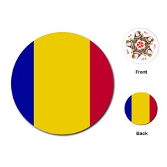 Civil Flag Of Andorra Playing Cards (round)