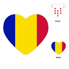 Civil Flag Of Andorra Playing Cards (heart)