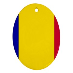 Civil Flag Of Andorra Oval Ornament (two Sides)