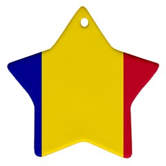 Civil Flag Of Andorra Star Ornament (two Sides)
