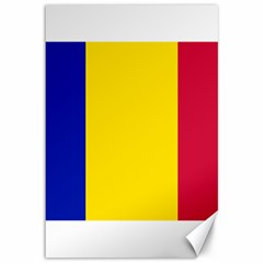 Civil Flag Of Andorra Canvas 12  X 18