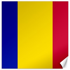 Civil Flag Of Andorra Canvas 16  X 16