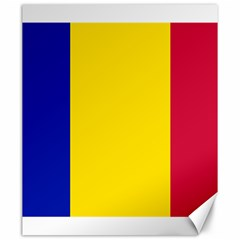 Civil Flag Of Andorra Canvas 20  X 24