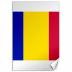 Civil Flag Of Andorra Canvas 20  X 30