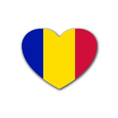 Civil Flag Of Andorra Heart Coaster (4 Pack)