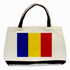 Civil Flag Of Andorra Basic Tote Bag (two Sides)