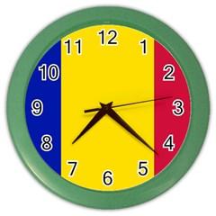 Civil Flag Of Andorra Color Wall Clocks