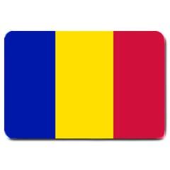 Civil Flag Of Andorra Large Doormat