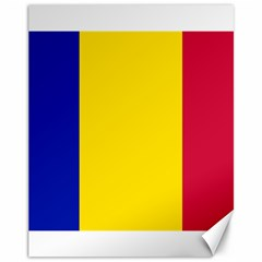 Civil Flag Of Andorra Canvas 11  X 14