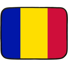 Civil Flag Of Andorra Fleece Blanket (mini)