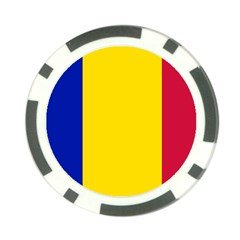 Civil Flag Of Andorra Poker Chip Card Guard (10 Pack)