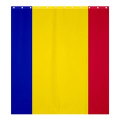 Civil Flag Of Andorra Shower Curtain 66  X 72  (large)