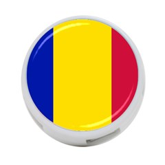 Civil Flag Of Andorra 4 Port Usb Hub (two Sides)