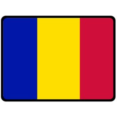 Civil Flag Of Andorra Fleece Blanket (large)