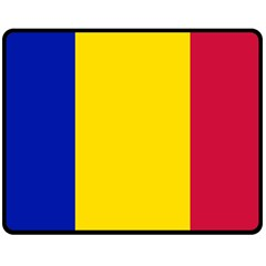 Civil Flag Of Andorra Fleece Blanket (medium)