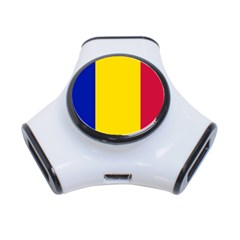 Civil Flag Of Andorra 3 Port Usb Hub