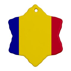 Civil Flag Of Andorra Snowflake Ornament (two Sides)