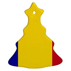 Civil Flag Of Andorra Christmas Tree Ornament (two Sides)