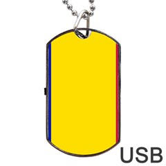 Civil Flag Of Andorra Dog Tag Usb Flash (one Side)