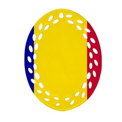 Civil Flag Of Andorra Ornament (oval Filigree)