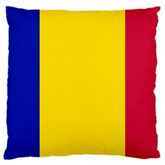 Civil Flag Of Andorra Large Cushion Case (two Sides)