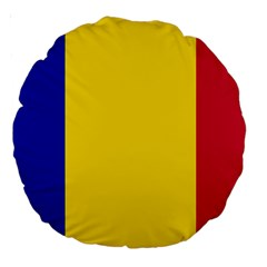 Civil Flag Of Andorra Large 18  Premium Round Cushions