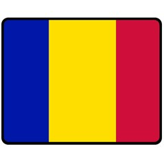 Civil Flag Of Andorra Double Sided Fleece Blanket (medium)