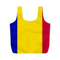Civil Flag Of Andorra Full Print Recycle Bags (m)