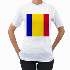 Civil Flag Of Andorra Women s T Shirt (white)