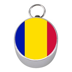 Civil Flag Of Andorra Mini Silver Compasses