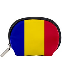 Civil Flag Of Andorra Accessory Pouches (small)