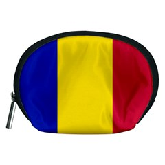 Civil Flag Of Andorra Accessory Pouches (medium)