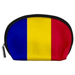 Civil Flag Of Andorra Accessory Pouches (large)
