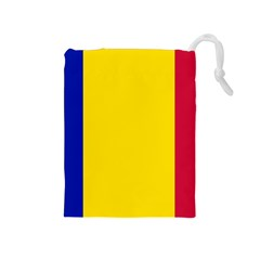 Civil Flag Of Andorra Drawstring Pouches (medium)