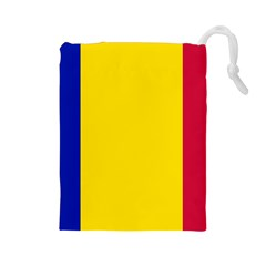 Civil Flag Of Andorra Drawstring Pouches (large)