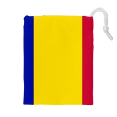 Civil Flag Of Andorra Drawstring Pouches (extra Large)