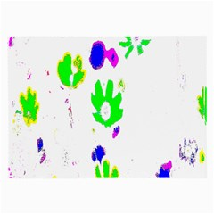 Green Flowers Pattern Large Glasses Cloth