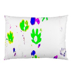 Green Flowers Pattern Pillow Case